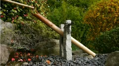 Japanese Garden Water Hammer Feature  Stock Footage
