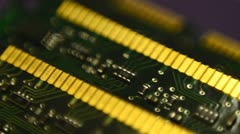 Memory chips from computer - stock footage