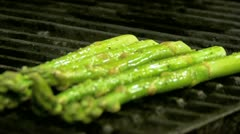 Grilling Asparagus Stock Footage