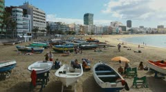 4K UHD Beach of the Canteras  timelapse Stock Footage