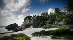 Mayan ruins mexico tulum no people Stock Footage