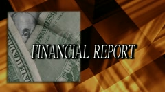 Financial report title Stock Footage