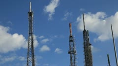 Communications Tower With Clouds Time Lapse, cell tower 1 HD 1080p Stock Footage