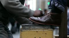Shoe Shine - stock footage
