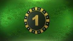 38 Poker chip turning around Stock Footage