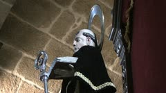 Spain Galicia saint profile halo Stock Footage
