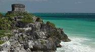 Mayan ruins mexico tulum Stock Footage