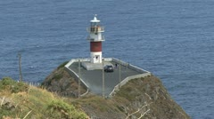 Spain Galicia Cabo Ortegal lighthouse 2 i Stock Footage