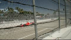 Indy Cars Driving By Stock Footage