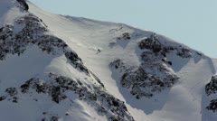 Skiing in the big mountains. Stock Footage