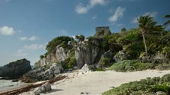Mayan ruins mexico tulum Stock Footage