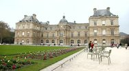 "Stock Video Footage of ""The Grand Luxembourg"", Maria de Medicis palace in Luxembourg Garden"