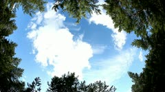 Clouds timelapse shot. top view with fisheye lens - stock footage