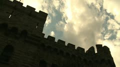 Stock Video Footage of castle sky timelapse
