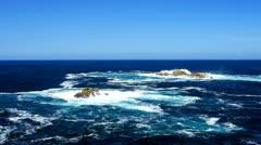 Atlantic ocean waves crash on the reef, Spain. Stock Footage