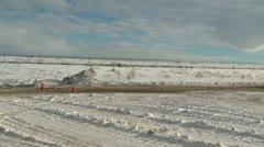 Motorsports, winter rallycross honda civic Stock Footage
