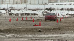 Motorsports, winter rallycross Isuzu Impulse Stock Footage