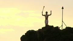 Polynesian Fire Ritual Stock Footage
