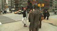 City Sculpture  Antony Gormley Stock Footage