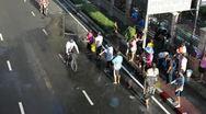 Songkran Water Festival in Bangkok, Thailand Stock Footage