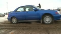Motorsports, winter rallycross Subaru Stock Footage