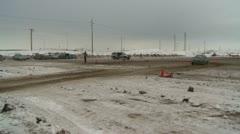 Motorsports, winter rallycross toyota Stock Footage