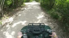 Cancun ATV tour - stock footage