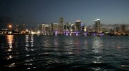 Stock Video Footage of Downtown Miami at night