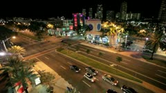 South Beach time lapse with ken burns effect Stock Footage