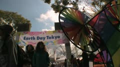 Earth Day Tokyo Stock Footage