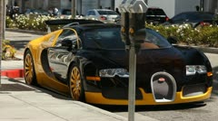 BUGATTI PARKED ON RODEO DRIVE Stock Footage