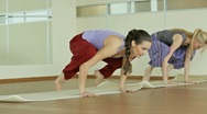 Stock Video Footage of Bakasana