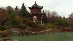 Chinese Temple And Lake 2 Stock Footage