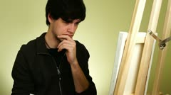 Artist Painting Art Stock Footage