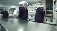Stock Video Footage of Wide Shot of Cleanroom