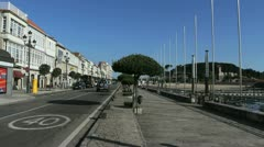 Spain Galicia Baiona main street 3 Stock Footage
