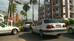 Panama City traffic, slow and constant - stock footage