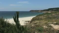 Spain Galicia Playa Pregueira branch buoys 1 Stock Footage