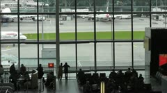 Heathrow terminal 5 departure lounge Stock Footage