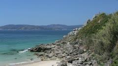 Spain Galicia Ria de Muros y Noia slabs at slope 1 Stock Footage