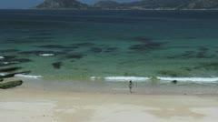 Spain Galicia Ria de Muros y Noia beach 3b Stock Footage