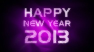 Stock Video Footage of New Year 2013 animation