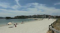 Spain Galicia Sanjenjo beach Stock Footage
