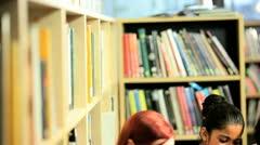 University classmates have fun on internet   - stock footage