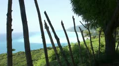 Paradisiac view in barahona Stock Footage