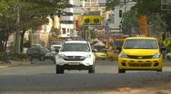 Panama City traffic, long shot, quite busy Stock Footage