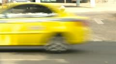 Panama City traffic man pushing trike - stock footage