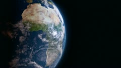 Earth 3d view from space. Africa. Stock Footage