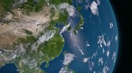 Stock Video Footage of Earth 3d view from space. Asia.