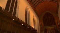 The interior of Queens College chapel, Cambridge - stock footage